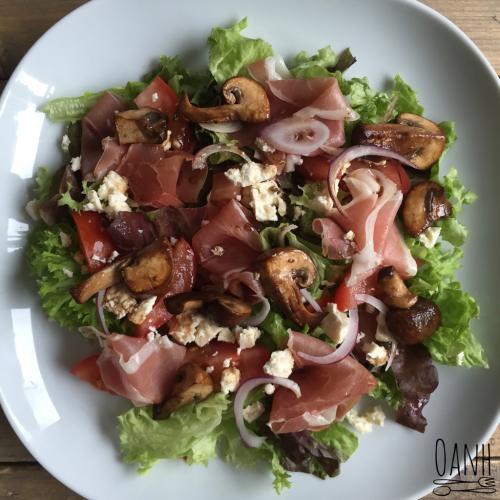 Salade met parmaham en feta