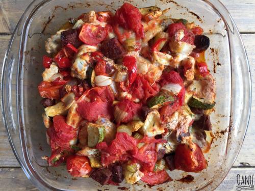 Kip met chorizo uit de oven