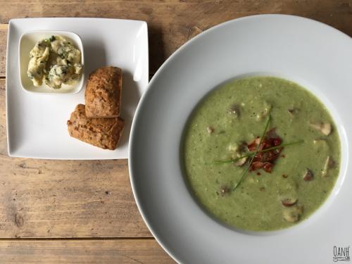 Prei champignon soep