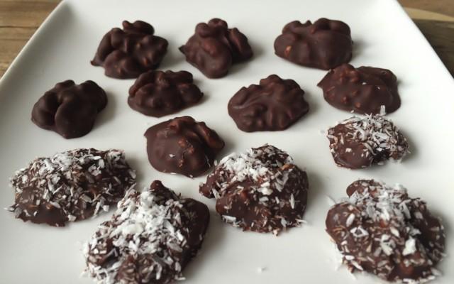 Chocolade kokos pecannoten