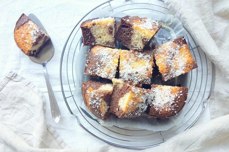 Chocolade kokos cake