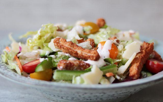 Kipfrietjes salade!