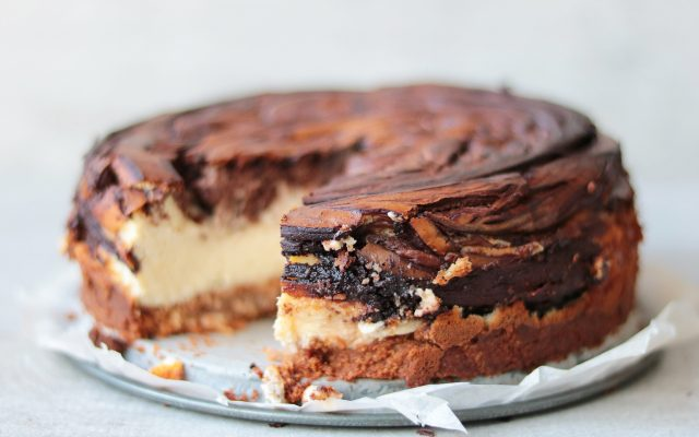 Chocolade marble cheesecake!