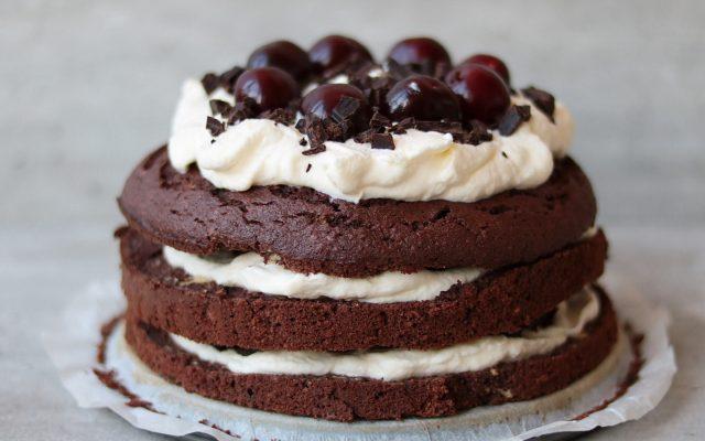Koolhydraatbeperkte schwarzwälder ohne kirsch torte!