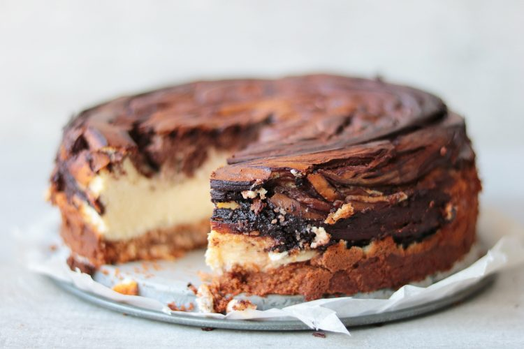 Chocolade marble cheesecake!
